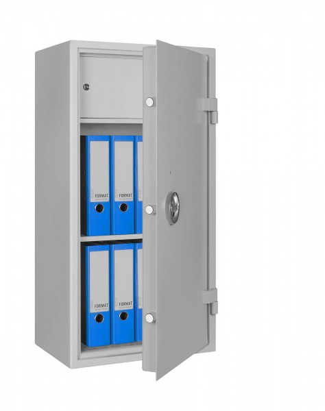 steel cabinet AS 1000 filled and half open