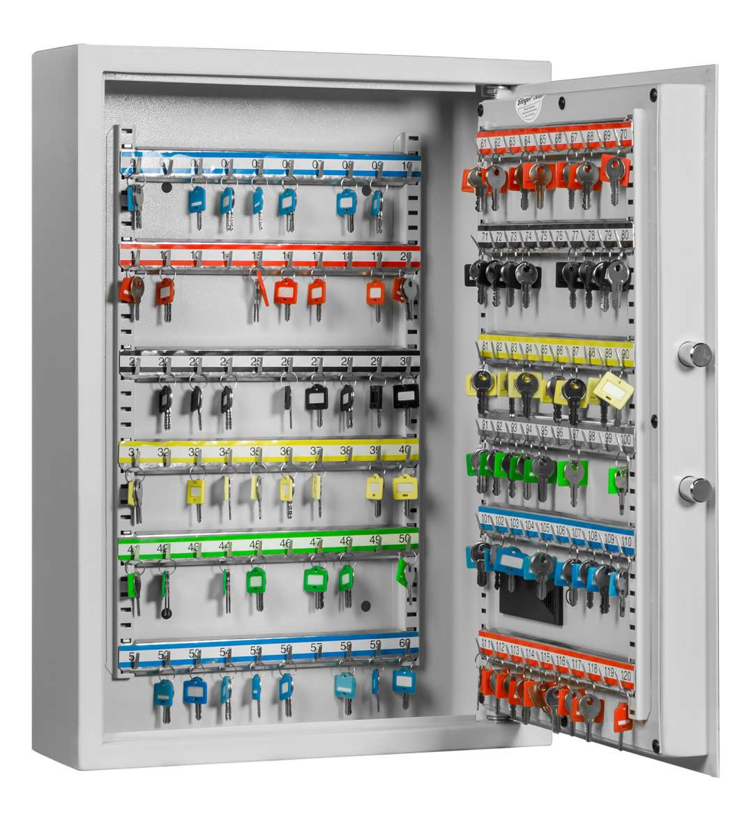 Key cabinet FORMAT SLE 120 with electronic lock - half open and with decoration