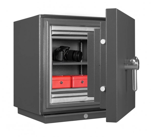 Fireproof safe FORMAT Fire Star 1 filled and half open