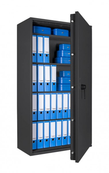 Burglary protection safe FORMAT Lyra 18 - half open and with decoration