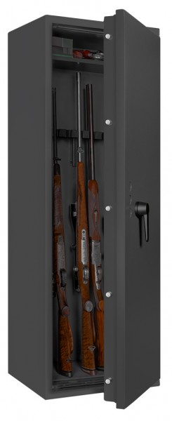 Gun safe FORMAT Capriolo I - half open and with decoration