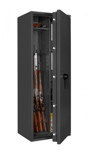 Gun safe FORMAT Capriolo VI - half open and with decoration